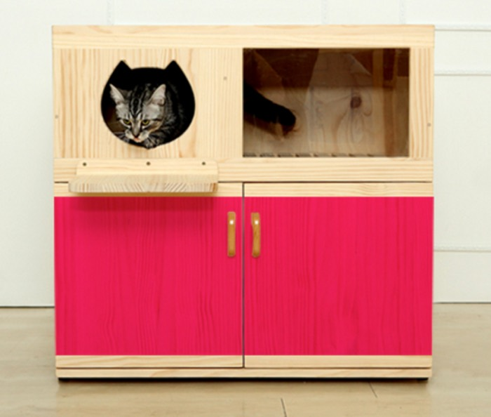 Incredible Cat Litter Box Furniture by Catwheel  STYLETAILS