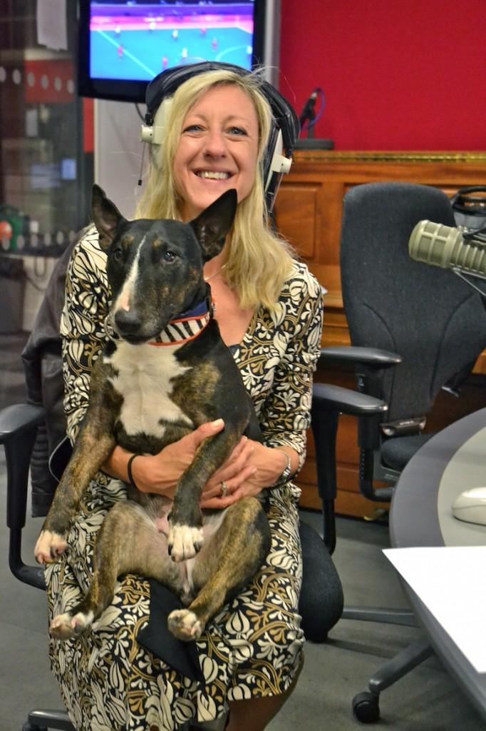 Anna Webb and Miniature Bull Terrier Molly