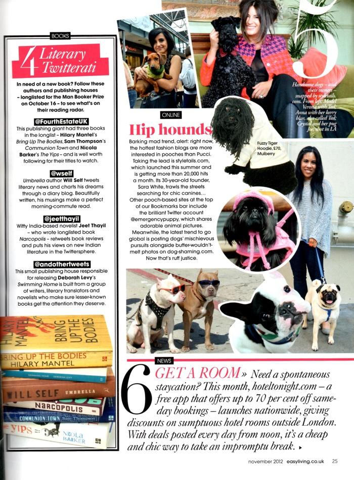 StyleTails Easy Living Magazine November 2012