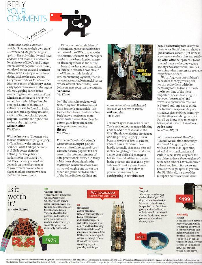 FT Magazine StyleTails Padpod