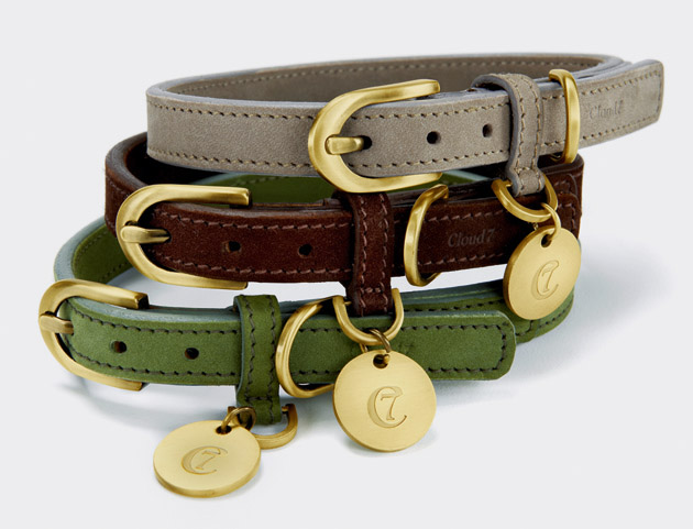 Tiergarten Nubuck Leather Dog Collars, £59-£67