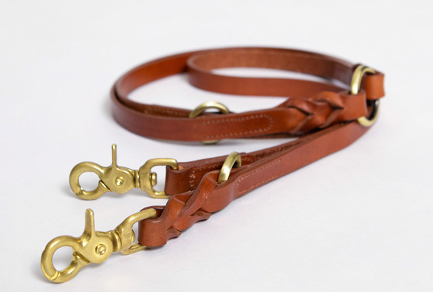 Hyde Park Braided Leather Dog Lead