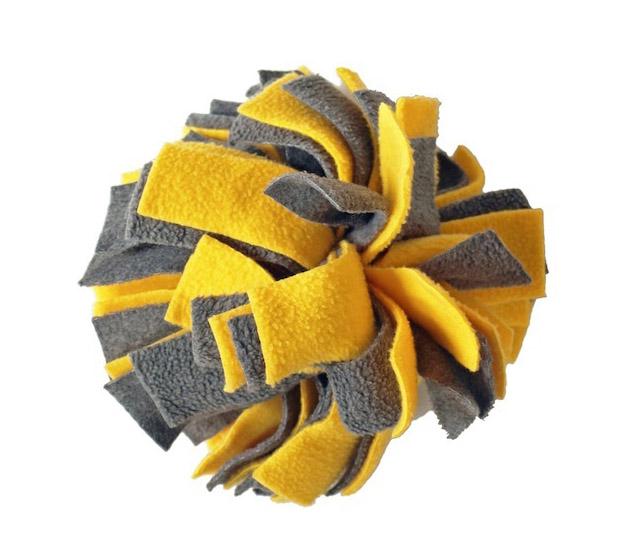 Gian Yellow Pom Pom Dog Toy
