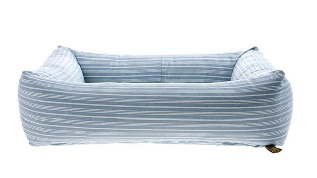 Bolster dog bed mUngo Maud Blue stripe