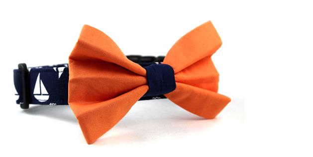 Nautical Dog Bow Tie