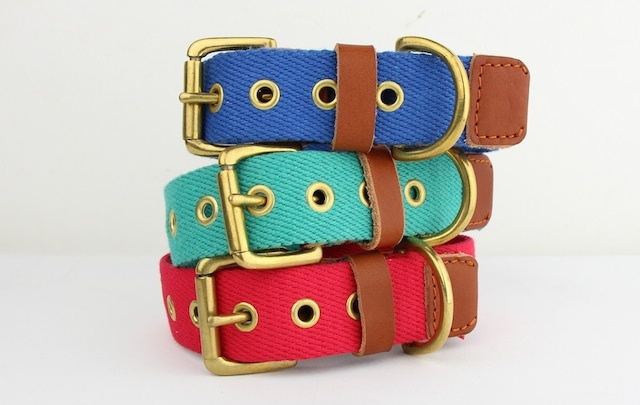 Fabric Dog Collars by Bone & Rag