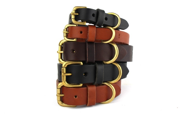 Luxury Leather dog collars from Bone & Rag