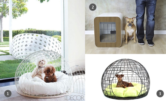 1. Dog Crate as seen in Elle Deco, 2. Dog House by Kooldog, 3. ei Dog Crate by GO PET DESIGN!