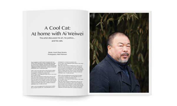 Ai Wei Wei cats Puss Puss magazine