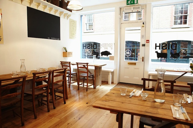 PIPSDISH DOG FRIENDLY RESTAURANT COVENT GARDEN LONDON