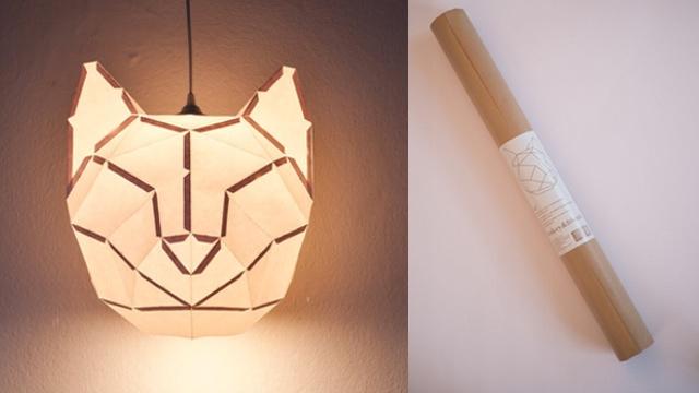 DIY cat head lampshade