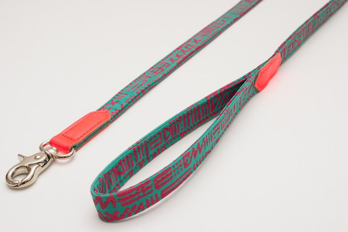 funky dog leash by kate moross for hire and wolf