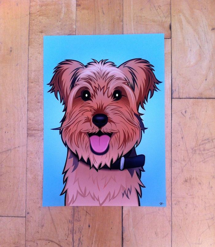 custom dog portrait sketch your pet
