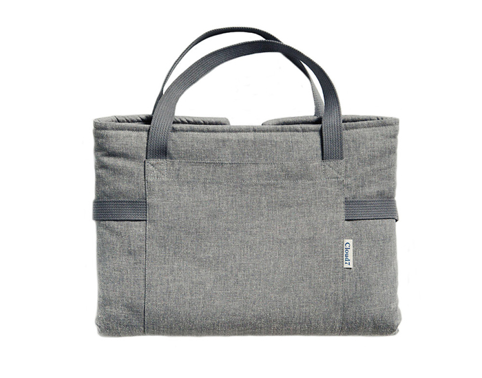 grey travel bed by miacara