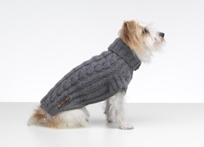 Grey Wilmot Luxury Dog Sweater by LoveMyDog