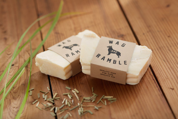 lemongrass and peppermint dog soap by wag and ramble
