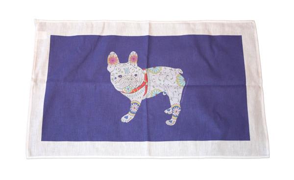 marlene's gang dog tea towel