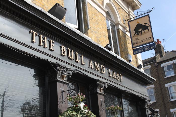 bull and last dog friendly pub hampstead