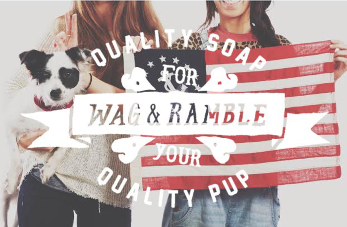 natural dog soap by wag and ramble