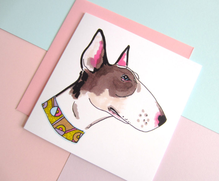 Bull terrier - - dolled up dogs by studio legohead jo chambers