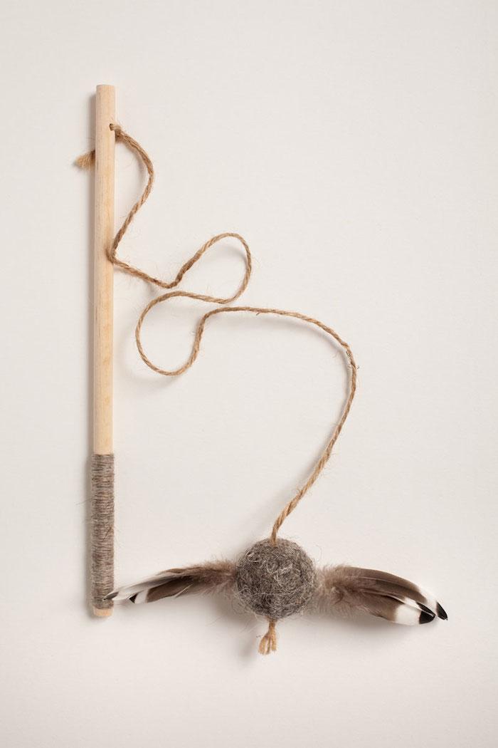 mallard birch rod cat toy - Tux and Tabby