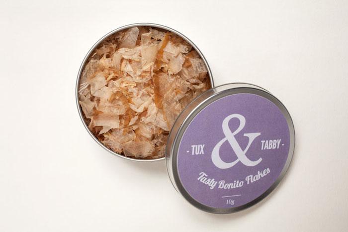 Bonito cat flakes by Tux and Tabby