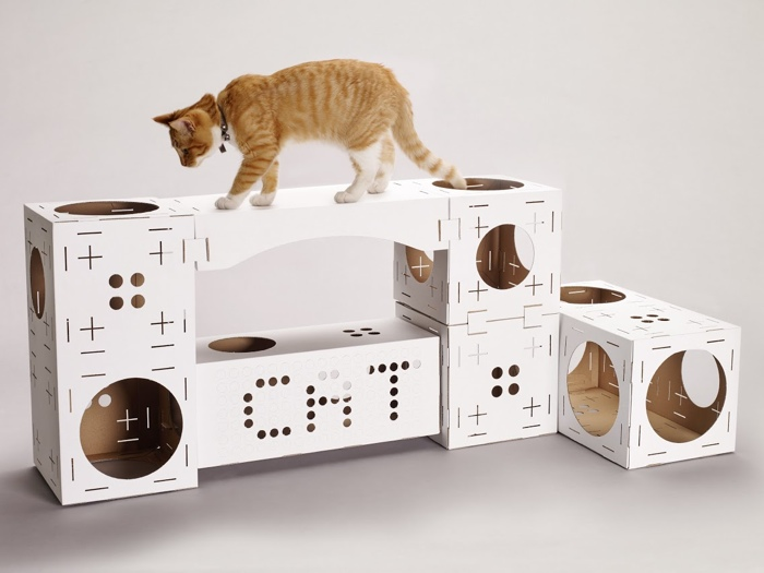 build your own cat playhouse with poopy cat styletails. Black Bedroom Furniture Sets. Home Design Ideas