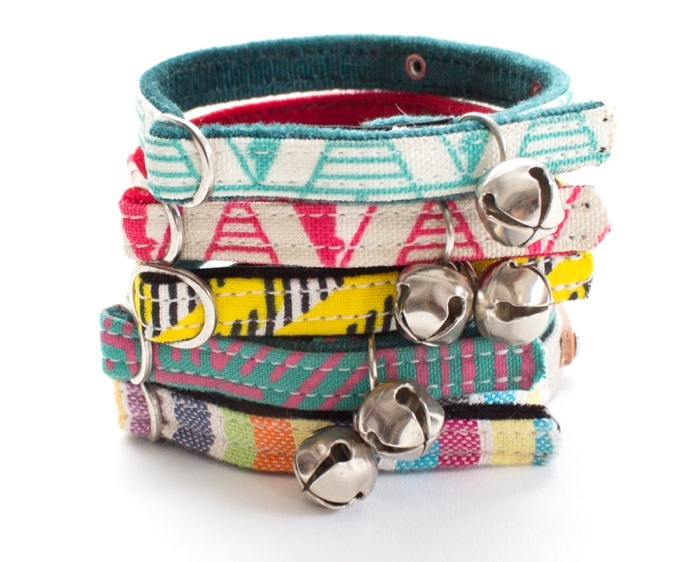 Designer cat collars by Hiro and Wolf