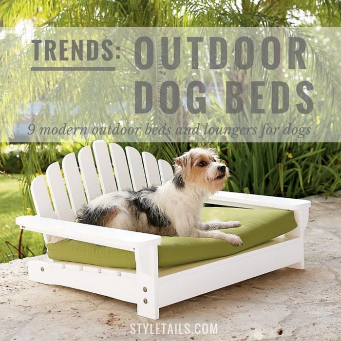 9 modern outdoor dog beds for summer