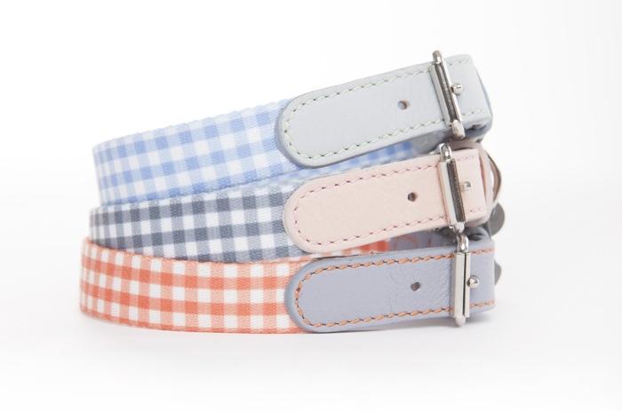 mungo and maud gingham check dog collars