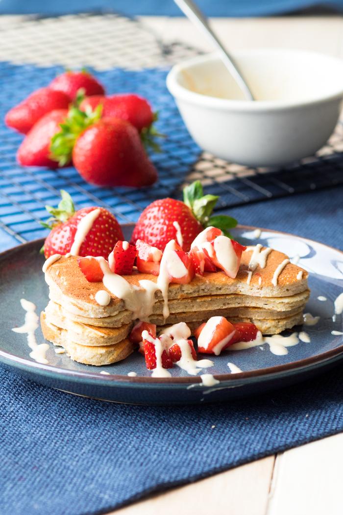 Buttermilk and Peanut Butter dog pancakes recipe Tina Jiu The Worktop