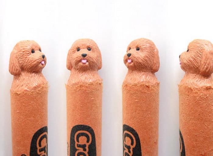 Dog crayon sculptures hoang tran