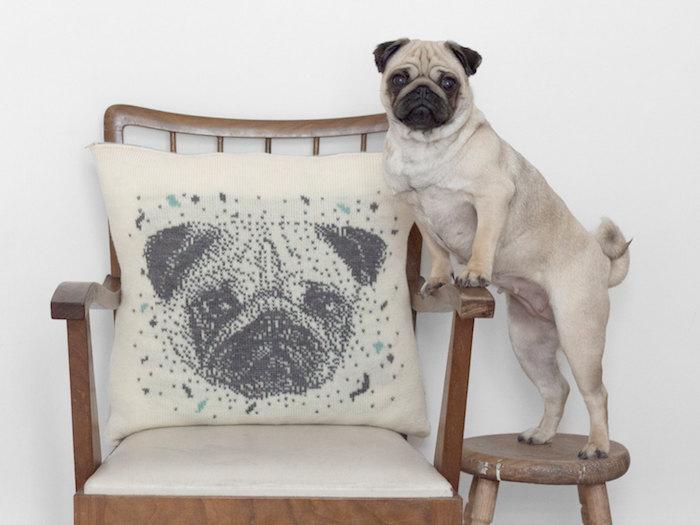 dog portrait pillow