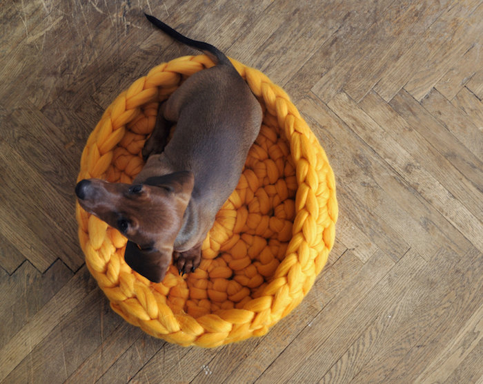 knitted wool pet bed by ohhio