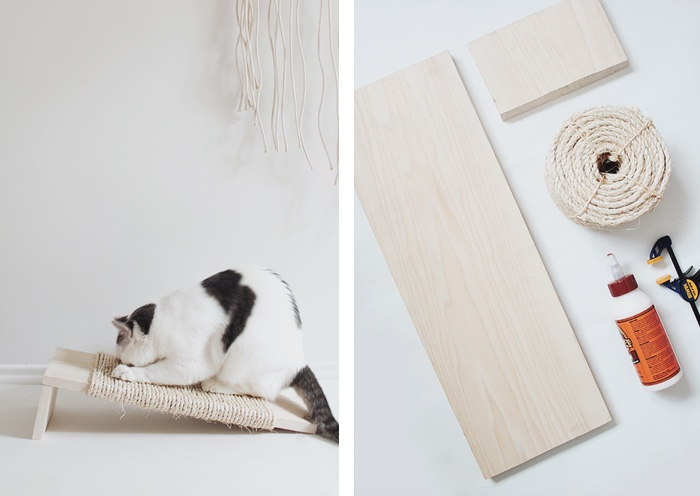 DIY cat scratcher almost makes perfect