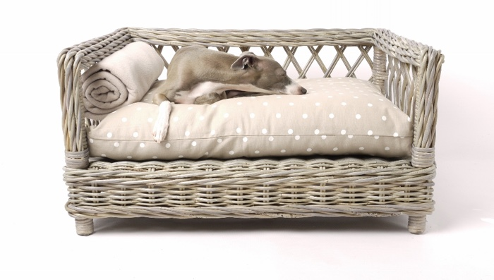 charley chau raised rattan dog bed
