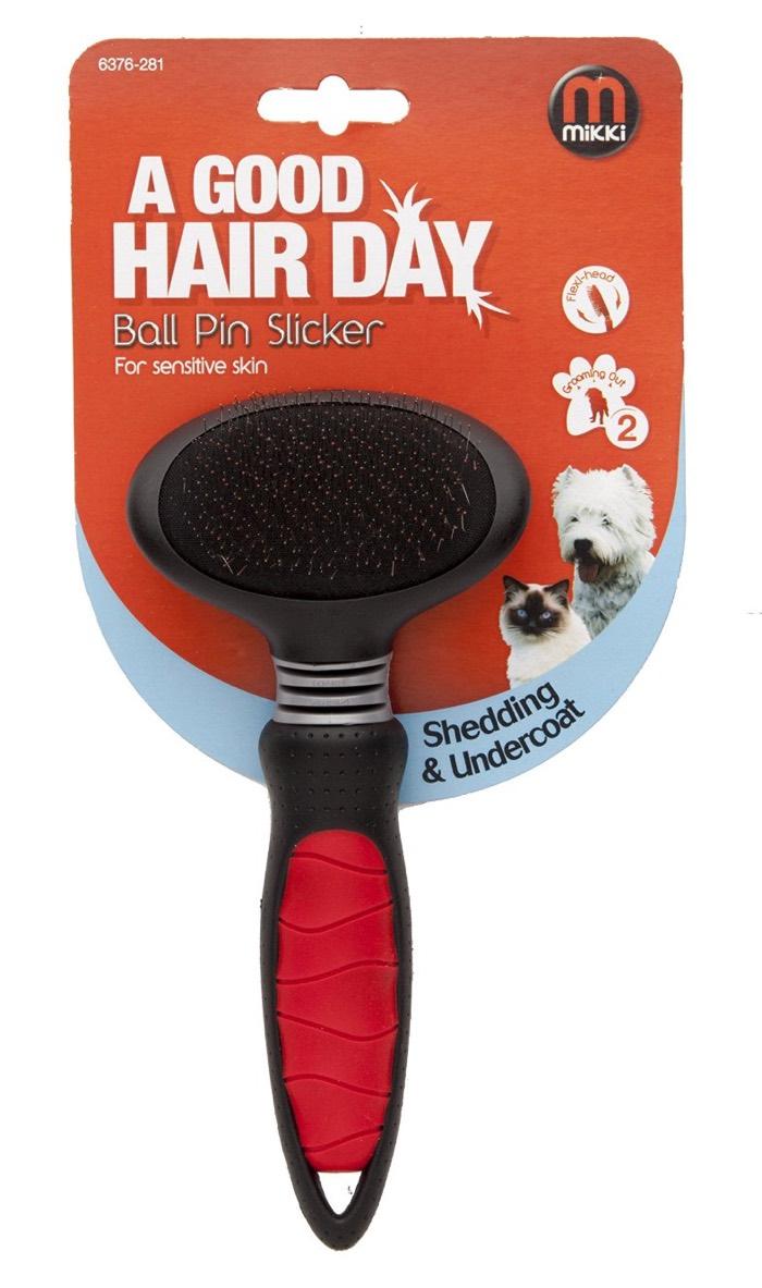 mikki ball pin cat slicker brush