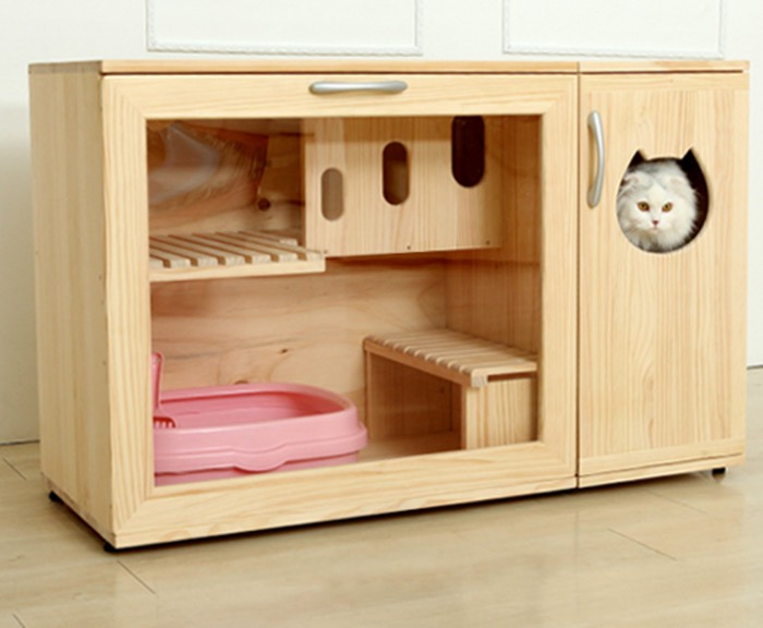 Catwheel Cat Litter Box Furniture