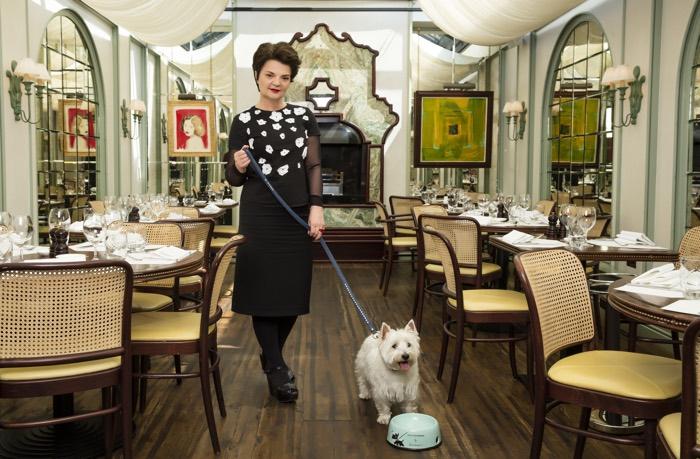 Lulu Guinness at Daphne's Dog Friendly Restaurant in Chelsea