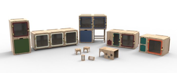 lekpets stylish rabbit guinea pig house cage