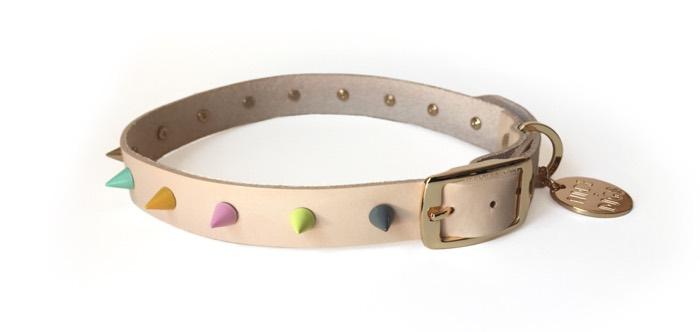 nice digs spike leather dog collar