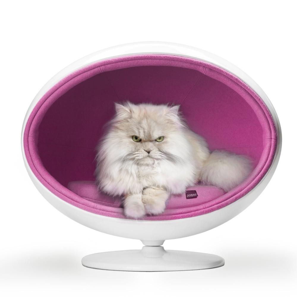 padpod luxury pet cave pink