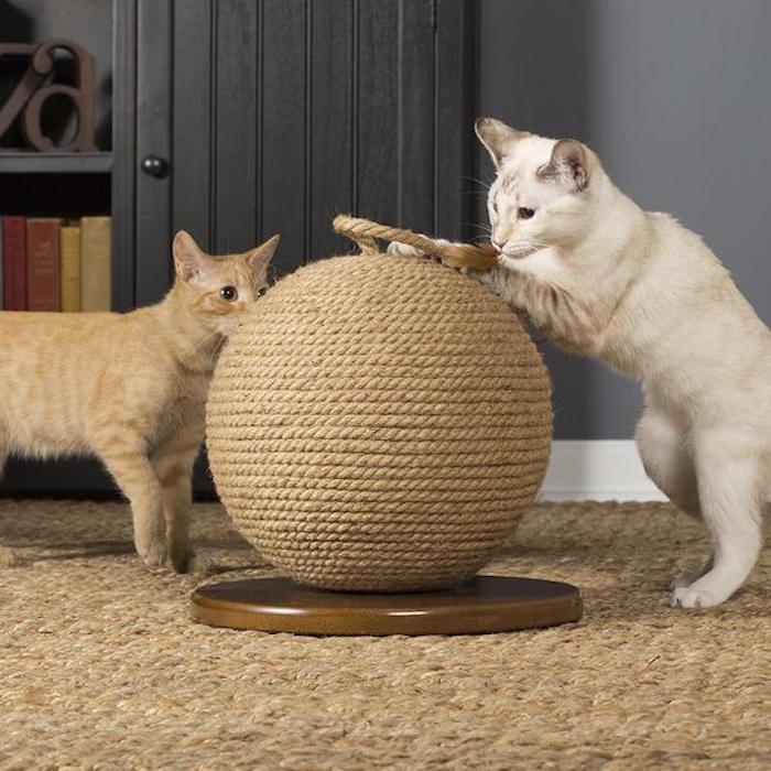 prevue pets jute cat scratching sphere