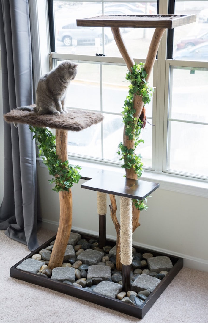 5 amazing indoor cat trees and perches styletails for Interesting cat trees