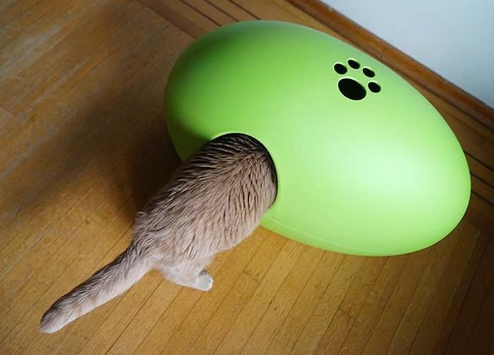 sin design poopoopeedo designer cat litter box