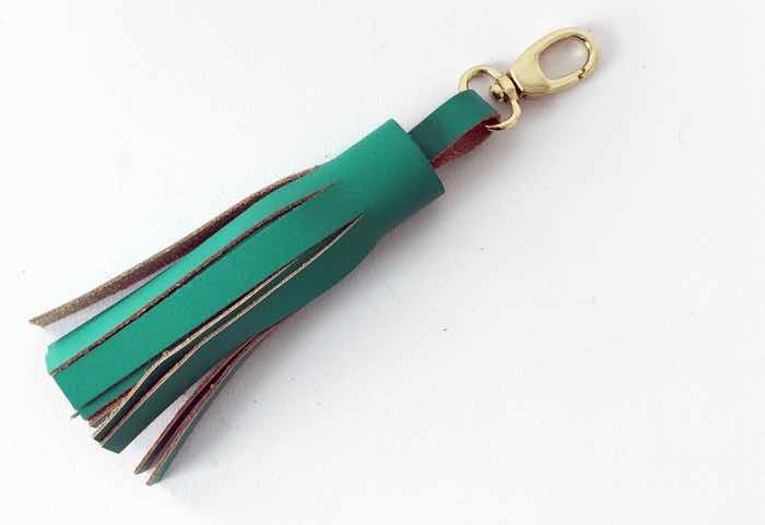 leather dog lead tassel