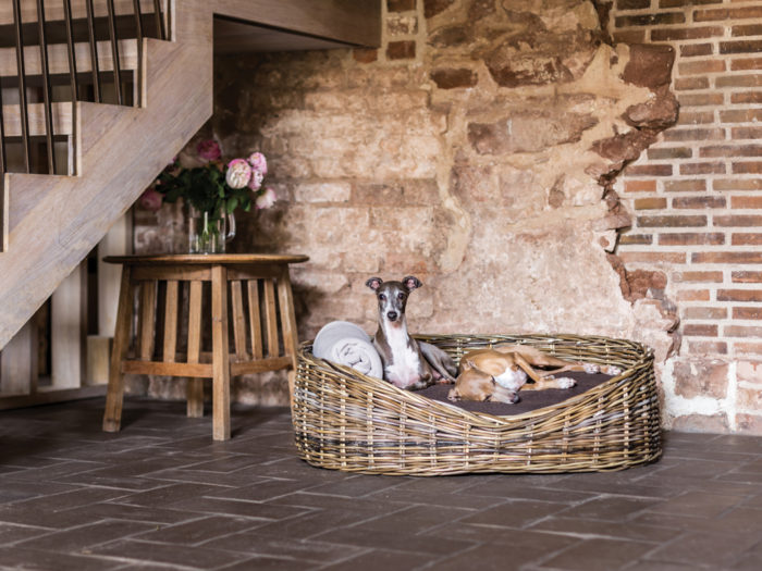 Oval Rattan Dog Basket Bed Charley Chau