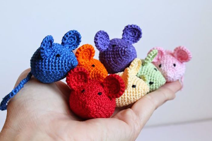 Knitted Mouse Cat Toys Styletails