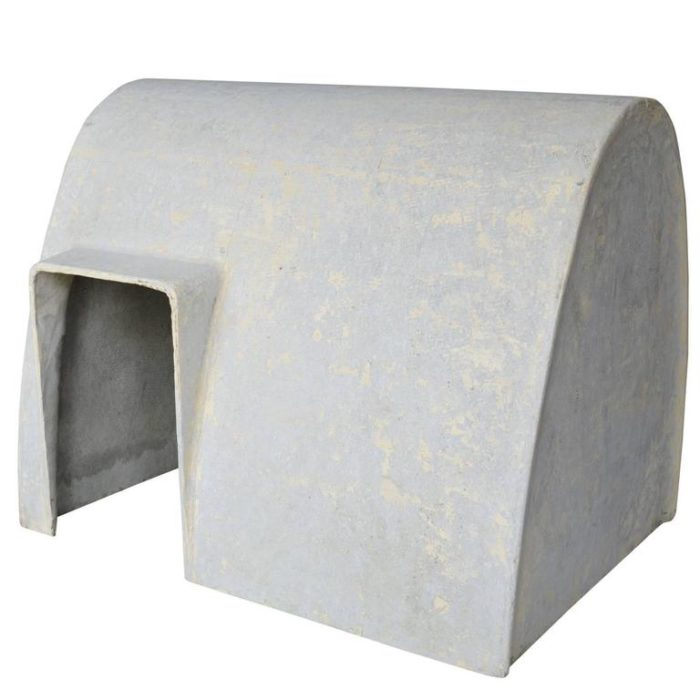 Cement dog kennel, Willy Guhl