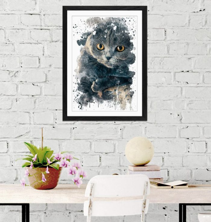 Scottish Fold Cat by East Urban Home